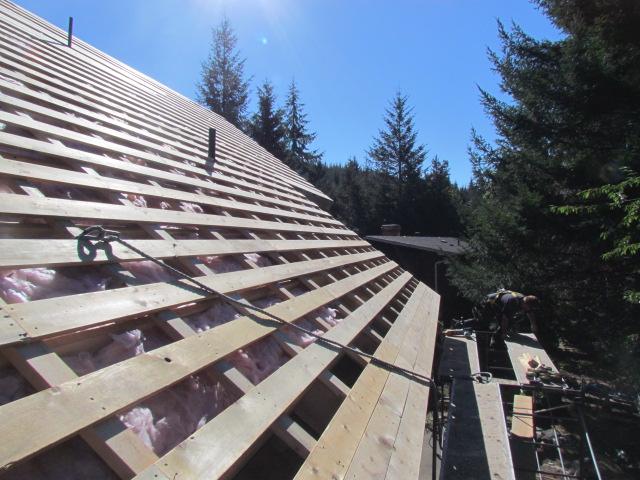 House Lift Metal Roof Straight Grain Inc